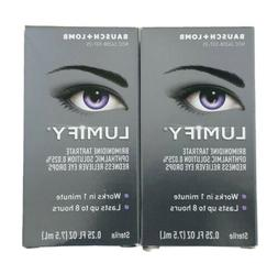 Lumify Redness Reliever Eye Drops 0.25 oz  each 2 Packs - Ex