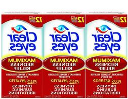 Clear Eyes Maximum Redness Relief Eye Drops Drying, Burning