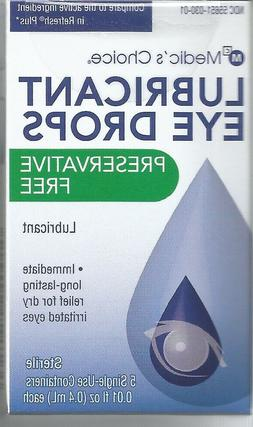 Medic's Choice Lubricant Eye Drops Preservative Free .01 oz