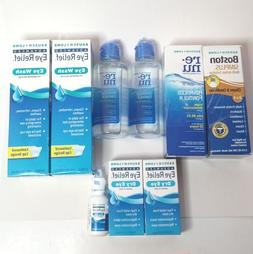 MIXED LOT Bausch+Lomb Solution, Eye Wash & Lubricant Eye Dro