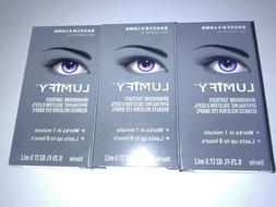 NEW! 3 x LUMIFY Redness Reliever Eye Drops By Bausch + Lomb