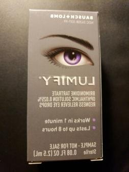 NEW Bausch + Lomb LUMIFY Redness Reliever Eye Drops .08 oz.