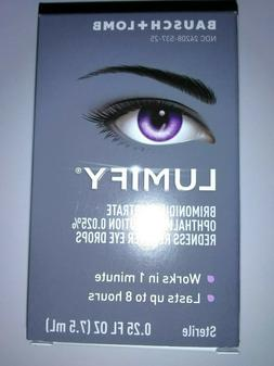 NEW! LUMIFY Redness Reliever Eye Drops By Bausch + Lomb  0.2