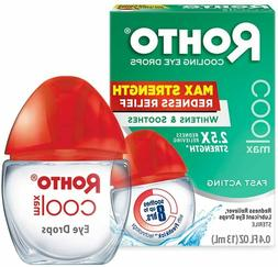 New Rohto Maximum Redness Relief Cooling Eye Drops 0.4 Fl. O