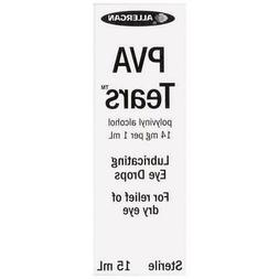 New PVA Tears Eye Drops 15mL Lubricating Soothe Dry Eye Hard