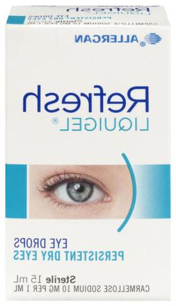 New Refresh Liquigel Eye Drops 15mL For Persistent Dry Eyes