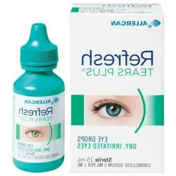 New Refresh Tears Plus Eye Drops 15mL For Dry & Irritated Ey