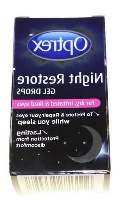 OPTREX NIGHT RESTORE GEL DROP DRY IRRITATED TIRED EYES NEW 1