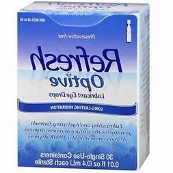 Refresh Optive Lubricant Eye Drops 30 Single-use EXP 9/19 +1