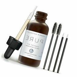 Organic Castor Oil - 2oz - 100% Pure - Cold Pressed - USDA C