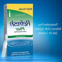 Refresh Plus Lubricant Eye Drops 100 Preservative Free Singl