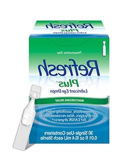 Refresh Plus Lubricant Eye Drops, 30 Single-Use Containers,