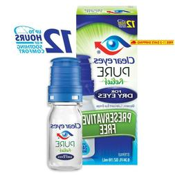 Clear Eyes | Pure Relief | Preservative Free Eye Drops | Dry