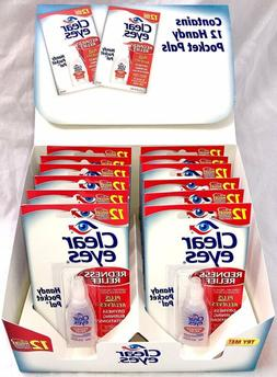 Clear Eyes Redness Relief Eye Drops Handy Pocket Pal 0.20 oz