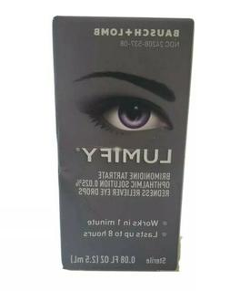 Lumify Redness Reliever Eye Drops 0.08 oz . FREE SHIPPING! E