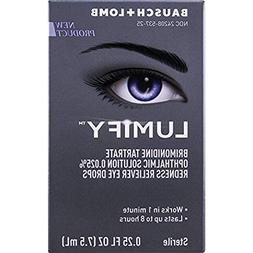 Bausch + Lomb Lumify Redness Reliever Eye Drops, 0.25 Ounce