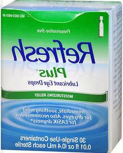 refresh plus lubricant eye drops 30 sterile