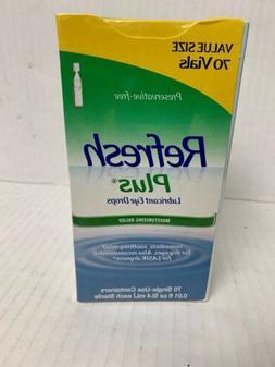 Allergan Refresh Plus Lubricant Eye Drops, Value Size, 70 ct