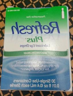 Refresh Plus moisturizing lubricant eye drops 30 Single use