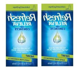Refresh Relieva FOR CONTACTS  - SET OF  .27 fl oz  Eye Drops