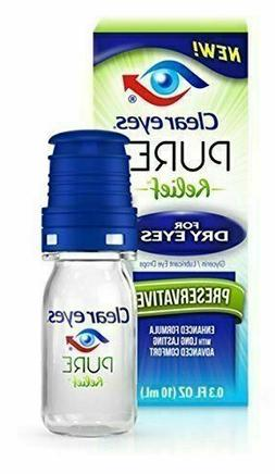 Clear Eyes Pure Relief for Dry Eyes .3 fluid ounces from Cle
