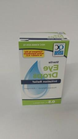 Quality Choice Sterile Eye Drops Irritation Relief 0.5oz Eac