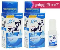 Pure-Aid Tears Eye Drops, Compare to Visine, 0.5 oz