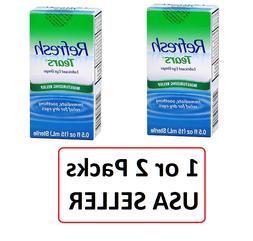 Refresh Tears Lubricant Eye Drops, 0.5oz  Bottle 1 or 2 Pack