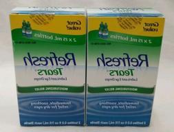 Refresh Tears Lubricant Eye Drops, 0.5oz each Bottle FREE SH