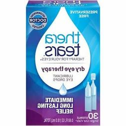 TheraTears Eye Drops for Dry Eyes, Preservative Free, 30 Cou