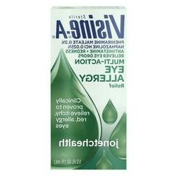 Visine-A Multi-Action Eye Allergy Relief Antihistamine Redne