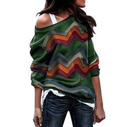 Respctful ♪☆ Women's Print Blouse Long Sleeve Sweatshirt