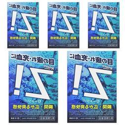 ROHTO Z! b Eye Drops X 5 Cool Refreshing Sore Eye Wash Japan