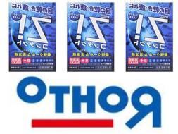 ROHTO Z! Contact Eye Drops X 3 Cool Refreshing Eye Wash Japa