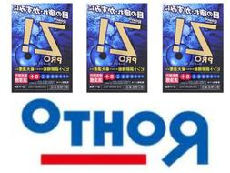 ROHTO Z! Pro Eye Drops X 3 Cool Refreshing Eye Wash Japan Fr