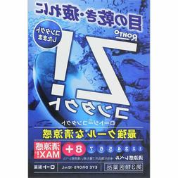 ROHTO Z! Refresh Cool Eye Drops 12ml Made in Japan Import Fr